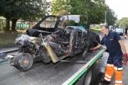 VIDEO: Reliant Robin destroyed as three-wheeler goes up in flames