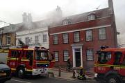 Lymington High Street partially closed due to fish and chip shop blaze