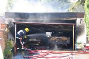 Valuable cars destroyed in garage blaze