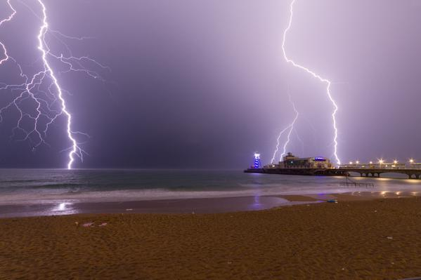 "Flash flooding and spectacular skies as Dorset hit by ""megastorm"""