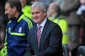 See the moment Stoke City boss Mark Hughes is evacuated from AFC Bournemouth press conference