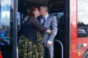 Bus driver borrows double decker for surprise proposal